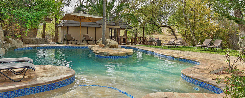 Swimming at main pool
